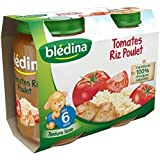 Bledina Pots Sales Tomates Riz Poulet 2X200G 6 mois - ( Prix Unitaire ) - Envoi Rapide Et Soignée