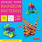 Rainbow patterns origami paper 6""
