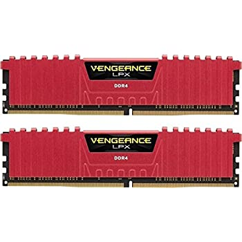 Corsair CMK8GX4M2B3866C18R Vengeance LPX Kit di Memoria per Desktop a Elevate Prestazioni da 8 GB, 2 x 4 GB, DDR4, 3866 MHz, C18, con Supporto XMP 2.0, con Airflow Fan, Rosso
