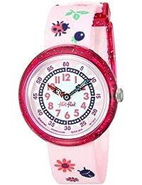 FlikFlak Mädchen Analog Quarz Uhr mit Stoff Armband FBNP093
