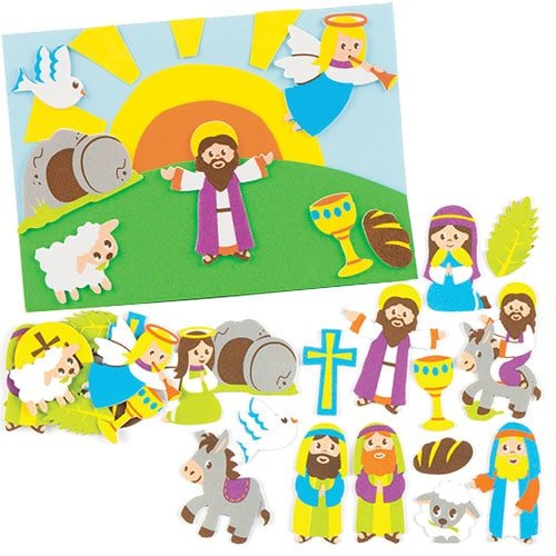 Baker Ross Pegatinas de espuma de Semana Santa, perfectas para manualidades y decoraciones infantiles creativas (pack de 120)
