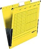 FALKEN Hängetasche gelb A4 Leinenfrosch Karton 25 Taschen - Bürokleinmaterial, 80002660