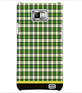 PrintDhaba Check Pattern D-1506 Back Case Cover for SAMSUNG GALAXY S2 (Multi-Coloured)