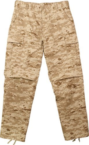 Camouflage Military BDU Pants, Army Cargo Fatigues (Desert Digital Camouflage, Size 2X-Large) Bdu Sky Blue Camo
