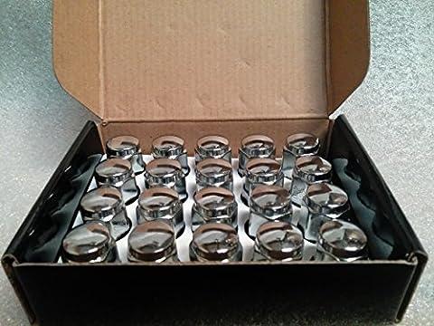 accuwheel lna-12125C5chrom Wulst Eichel Rad Lug Muttern (12mm x 1,25Gewinde Größe) 1.4Hoch–lugnuts von (20 Chrome Locking Radmuttern)
