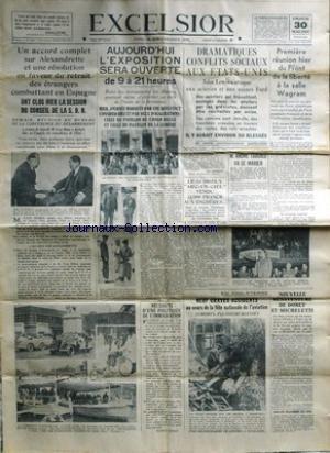 EXCELSIOR du 30/05/1937 - ACCORD COMPLET...