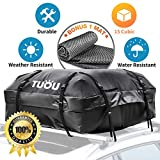 Waterproof Car Top Carrier Box Roof Luggage Storage Bag (15 Cubic Feet)