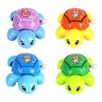 quanjucheer Wind-up Turtles Tortoises Clockwork Floating Bath Time Kid Baby Turtle Shower Water Play Swimming Pool Toy