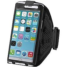 kwmobile fascia da braccio sportiva per Smartphones - jogging corsa borsa da sport fascia per fitness in nero - compatibile ad es. con Samsung, Apple