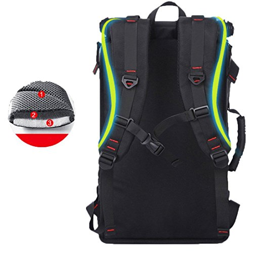 Gro?e Kapazit?t multifunktional wasserdicht praktische Oversized Bergsteigen Tasche, Travel Backpack black 2