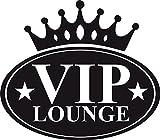 GRAZDesign 720424_57_070 Wandtattoo Wandaufkleber Wand Deko VIP Lounge Küche Krone Sterne Schriftzug (65x57cm//070 schwarz)