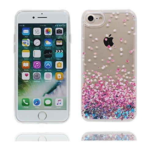 iPhone 7 Coque, Case Cover étui pour iPhone 7 4.7 pouces, Bling Glitter Fluide Liquide Sparkles Sables Mouvants Étoile Paillettes Flowing Brillante, iPhone 7 Case anti-chocs - Colorful ( Bling Bling) # 7