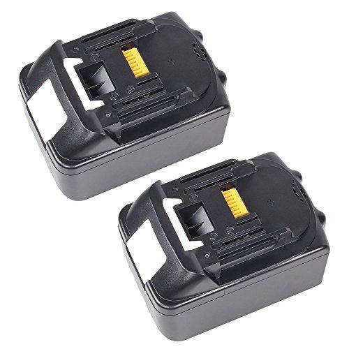 Preisvergleich Produktbild 2X PACK 5,0Ah Werkzeugakkus für Makita BL1850 196672-8 Akku 18V LI-ION Ersetzen BL1830 BL1840