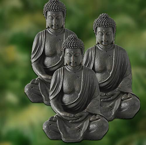 Deko-Buddha sitzend, ca. 40cm hoch in Braun - 4