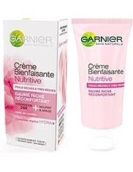 Garnier - SkinActive - Crème Bienfaisante - Hydratant visage  - Baume nutritif  24h