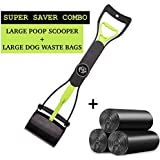 The Pets Company Dog Poop Scooper and Dog Waste Pick Up Bags, 90 Poop Bags