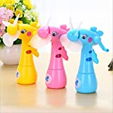 #10: Hand Driven Mist Spray Fan Deer Shaped Safe Portable Mini Fan for Kids (1 Pcs)