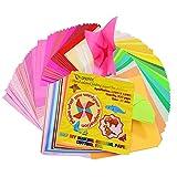Papel de origami Onepine de 15 x 15 cm, 400 hojas, 50 colores vivos, 80% de doble...