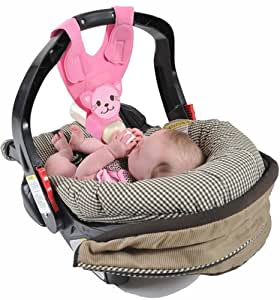 baby bottle holder for hands free bottle feeding by bebe bottle sling pink kitten. Black Bedroom Furniture Sets. Home Design Ideas