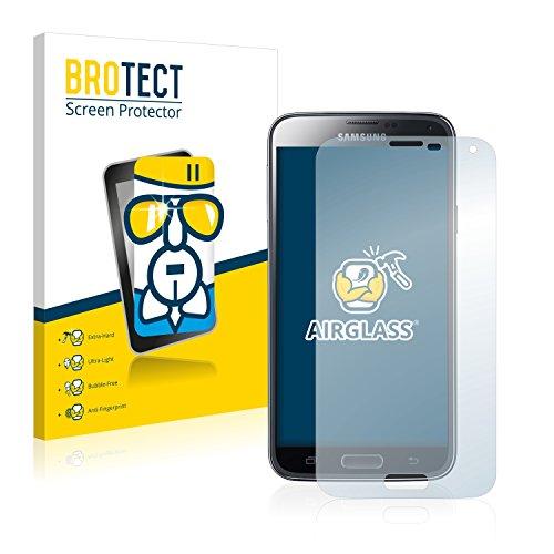 BROTECT Panzerglas Schutzfolie kompatibel mit Samsung Galaxy S5 Duos LTE SM-G900FD - Flexibles Airglass, 9H Härte
