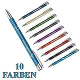 polar-effekt 1 Metall Oleg Kugelschreiber mit Gravur des Namens - Personalisierte Geschenk-Idee Mitbringsel - blau schreibend | Farbe hellblau
