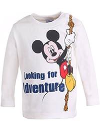 DISNEY Niños Mickey Mouse Camisa, blanco