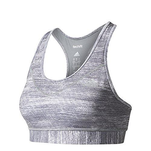 Adidas TF B Macrohth soutien-gorge de sport femme gris (gris / print / plamat)