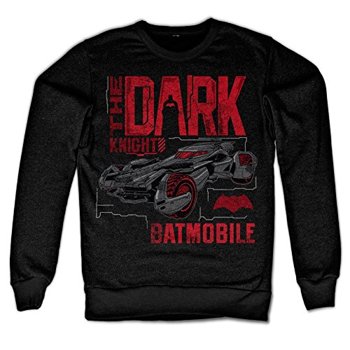 odukt Dark Knight Batmobile Sweatshirt (Schwarz), XX-Large (Dark Knight Offizielle Kostüme)