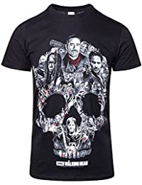 Official T Shirt Zombies The Walking Dead Negan Montage Skull All Sizes