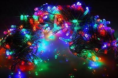 LED Lichterkette Bunt 100 LED - 10 Meter transparentes Kabel - für innen mit 8 Blinkprogrammen von Webkaufhaus24 GbR bei Lampenhans.de