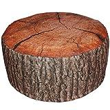 Outdoor Pouf EICHE oder FICHTE Baumstamm aufblasbares Sitzkissen Rinde 55x25 cm, Variante:Eiche