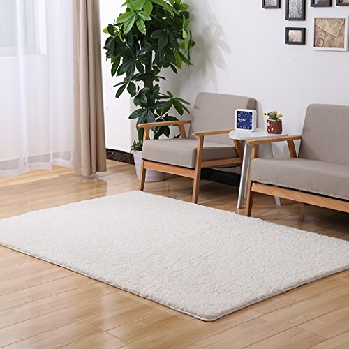 Tappeti D\'area Morbidi Interni Moderni Fluffy per Tappeti da Salotto Adatto  per Bambini Camera da Letto Home Decor Tappeti per Bambini,White,2X3m