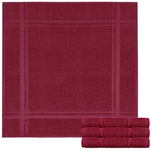 Lashuma 4er Pack Trockentücher Burgunder Rot - Frotteetücher 50 x 50 cm - Vielseitige Küchentücher aus 100{6adf3c5d85eb5dcdf5fbe61b2bc2c08e1448073265d2df572119eec32199bfe2} Baumwolle