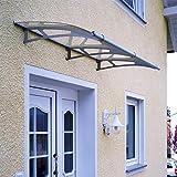 Palram Vordach Unterstand Capella 1900 klar inkl. Regenrinne // 190x95 cm (BxT) // Türüberdachung & Türvordach