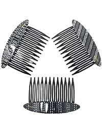 Evogirl Hair Comb Elegant Print Glossy Premium Combo Gift Pack All Types Of Hair Styles Matte Finish Black & White...