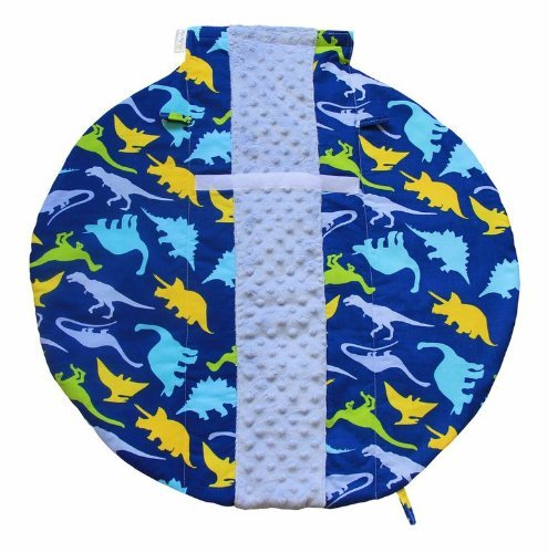 itzy-ritzy-wrap-and-roll-infant-carrier-arm-pad-and-tummy-mat-dino-mite-by-itzy-ritzy