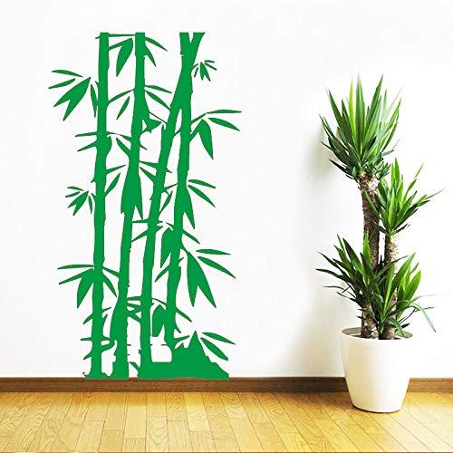 AiyoAiyo DIY Bambou Famille Stickers Muraux Mural Art Décor À La Maison pour La Chambre des Enfants Étanche Mur Art Decal Vert30 cm X 50 cm