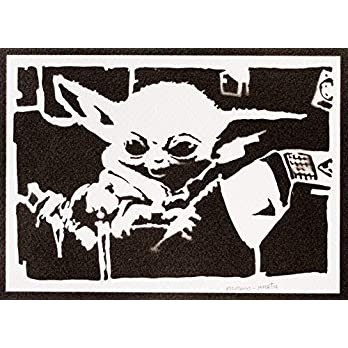 Baby Yoda Poster The Child Mandalorian STAR WARS Plakat Handmade Graffiti Street Art – Artwork