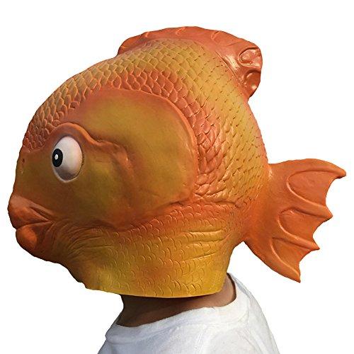 Queenshiny® Latex Tiermaske Halloween-Party-Kostüm (Fisch)