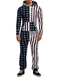 Combinaison pour homme tenue de jogging pièce onesie combinaison de camouflage modèle uSA