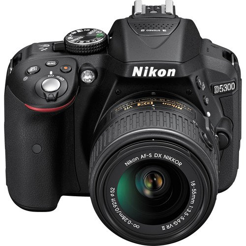 Nikon D5300 with 18 55 mm VR II Lens  Black