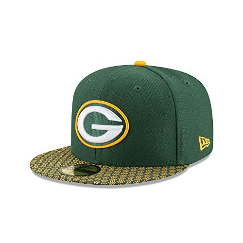 c4a493871565 New Era 59Fifty Cap - NFL SIDELINE 2017 Green Bay Packers ,7 1 8