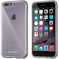 Custodia per iPhone 6s | iCASEIT EverClear Bumper Case [AIR CUSHION] with Clear Back Panel | Highly Durable, Super Strong, Non-Slip, Exact-Fit, Cushioned Corners & Premium Finish | GRAY