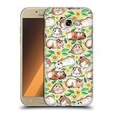 Head Case Designs Offizielle Micklyn Le Feuvre Meerschweinchen und Gänseblümchen und Aquarell Muster 2 Ruckseite Hülle für Samsung Galaxy A5 (2017)