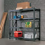 "Whalen 4 Tier 77"" (195cm) Industrial Storage Rack"