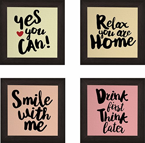 Paper Plane Design Synthetic Wood Handmade Coasters for Home, Office and Gifting - Set of 4
