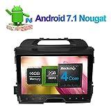 22,9cm Android 7.1Auto Stereo Full Touch in Dash Car Radio Head Unit mit Bluetooth GPS Navigation für Kia Sportage 2010–2015Unterstützung FM AM RDS Spiegel Link 3G WiFi 1080P Video SWC Kamera