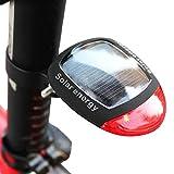 Queue lumière énergie solaire Powered LED Bike Vélo sécurité Retour Éclairage arrière vélo Avertissement Alarme clignotante Feu arrière rechargeable étanche avec 3Mode de flash