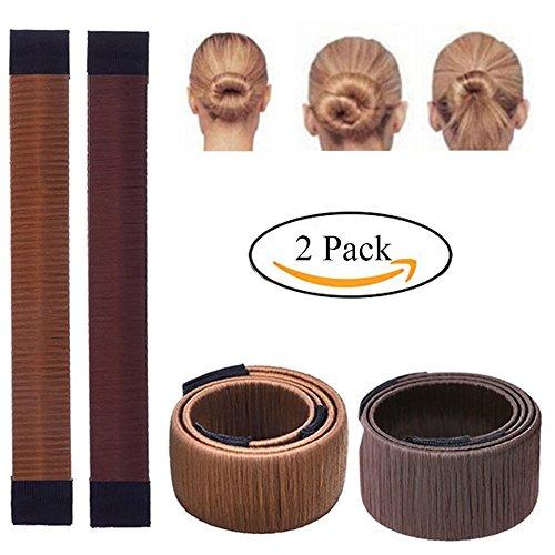 Weisy 2 Pcs Twist Haar Brötchen Styling Braid Halter Zubehör Werkzeug Damen Fashion Haarstyling Tool DIY Haar Brötchen