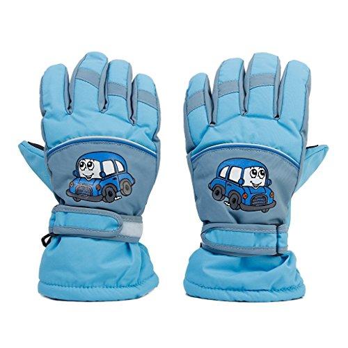 Preisvergleich Produktbild Kingstons Anti-Rutsch Kinder Kinder Ski Skating fahren Handschuhe Winter Sport Warm Auto Muster
